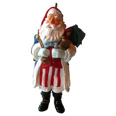 Merry Olde Santa Hallmark Ornament - Hallmark Santa Series - USA Santa - Vintage Santa - Holiday Decor