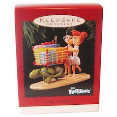 Flintstones Betty and Wilma Hallmark Ornament - Holiday Shopping Spree - Collectible Ornament - Vintage Hallmark