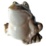Russian Porcelain Frog Figurine - Collectible Figurine - Kids Gift