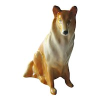 Russian Porcelain Collie Dog Figurine - Collectible Figurine - Kids Gift