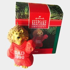 LIon Dad Hallmark Ornament 1990 - Collectible Ornament - Christmas Decor - Holiday Decor - Gift for Him