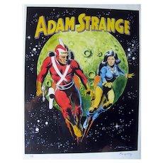 Adam Strange Poster - Adam Strange and Wife Alanna - Collectible Poster