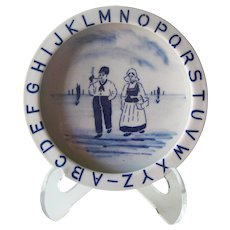 Delft ABC Baby Child's Dish - ABC Child's Bowl - Bavaria Feeding Dish - Collectible ABC - Vintage Child's Feeding Bowl - Collectible Delft