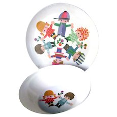 Melmac Childs Bowl and Plate Set:  Childrens Tableware