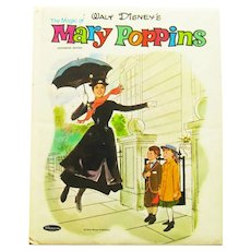 The Magic of Mary Poppins Book - Walt Disney Productions - Whitman Book - Collectible Book