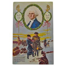 George Washington Postcard - Washington and Lafayette at Valley Forge - Vintage Postcard - Nash Postcard
