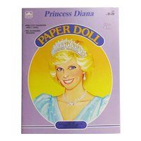Princess Diana Paper Doll Book - Golden Book - 1985 Paper Doll - Vintage Princess Diana