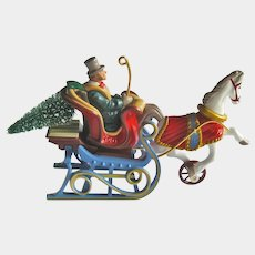 Victorian Sleigh Hallmark Ornament - Die-Cast Metal Ornament - Collectible Ornament