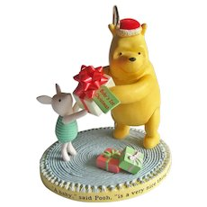 Winnie the Pooh Baby's First Christmas Hallmark Ornament - Pooh Collection - Pooh and Piglet