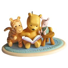One Upon a Story Winnie the Pooh Hallmark Ornament - Pooh Tiger and Piglet - Collectible Ornament