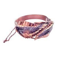 Whiting & Davis Copper Sculpted Bracelet