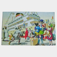 Alfred Mainzer Dressed Cats - Anthropomorphic Cats - Cats on a Cruise