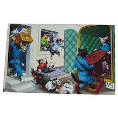 Alfred Mainzer Dressed Cats - Anthropomorphic Cats - Cats and Moving Van