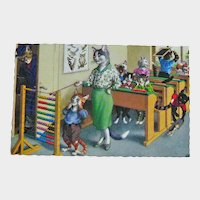 Alfred Mainzer Dressed Cats - Anthropomorphic Cats - Cats in School