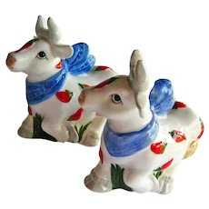 Cow Salt and Pepper Shakers - Chili Pepper Cows - Collectible Shakers