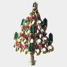 Rare Hollycsraft Candle Christmas Tree Pin
