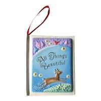 Hallmark All Things Beautiful Ornament - Book Ornament