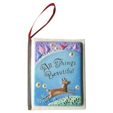 Hallmark All Things Beautiful Ornament - Book Ornament