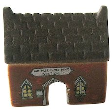 Vintage Wade Whimsey Station - Wade Set 3 number 18 - MIniature Train Station