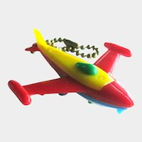 Jet Airplane Puzzle Key Ring / Puzzle Key chain / Vintage Key ring