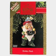 Hallmark Holiday Flash Ornament - Magic Blinking Light Ornament - Flashing Camera Ornament