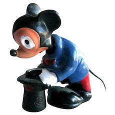 Marx Miniature Mickey Mouse Nodder / Mickey Mouse Bobble Head / Collectible Disney