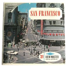 San Francisco View-Master Three Reel Pack /Sawyers View-Master / Collectible Viewmaster / Vintage