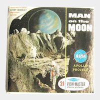 Man on the Moon / View-Master Three Reel Pack / NASA Apollo Project / Sawyers View-Master