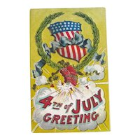 Patriotic Postcard / Fourth of July / Fireworks Postcard