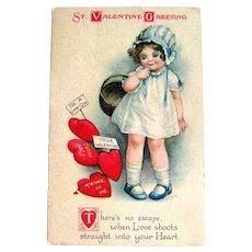 Unsigned Clapsaddle Valentine Postcard
