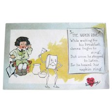 Tuck Valentine Postcard / Tuck Pun Series / Napkin Ring Verse