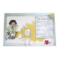 Unused Tuck Valentine Postcard / Tuck Pun Series / Napkin Ring Verse