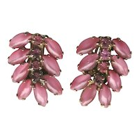 Pink Molded Glass Earrings