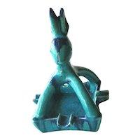 Walter Bosse  Goebel Double Crown Rabbit Ashtray / Ceramic  Ashtray /  Vintage Goebel