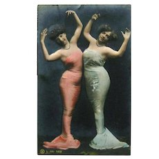 Real Photo Postcard Mermaids / Vintage Postcard / Models as Mermaids