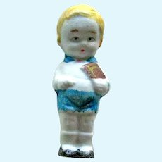 Boy Bisque Painted Miniature Doll / Vintage Doll