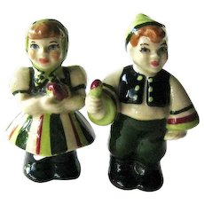Ceramic Arts Studio Salt Pepper / Swedish Children / Vintage Shakers