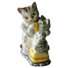 Beatrix Potter Tabitha Twitchit and Miss Moppet / Beswick Figurine / English Porcelain