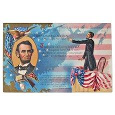 Abraham Lincoln Postcard / Centennial 1909 / Martyred President / Vintage Ephemera