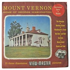 Mount Vernon Viewmaster / View-Master Three Reel Pack / Vacationland Series  / Sawyers View-Master
