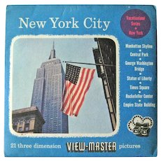 New York City View-Master / View-Master Three Reel Pack / Vacationland Series / Sawyers View-Master