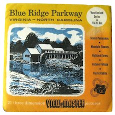 Blue Ridge Parkway Viewmaster / View-Master Three Reel Pack / Vacationland Series / Sawyers View-Master