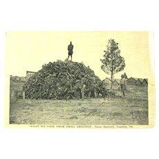 Real Photo Postcard Camp Hancock Augusta Georgia / Drill Grounds / World War 1
