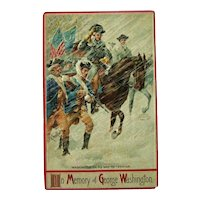 George Washington Postcard / Memory of George Washington / Vintage Ephemera