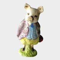 Beatrix Potter Pigling Bland Figurine / Beswick Pig / Vintage Beatrix Potter