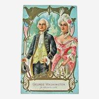 George and Martha Washington Postcard / Private Life / Vintage Ephemera