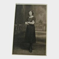 Real Photo Postcard / Portrait / Lovely Young French Woman
