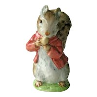 Beatrix Potter Timmy Tiptoes Figurine / Squirrel Figurine / Beswick Gold Mark