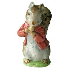 Beatrix Potter Timmy Tiptoes Figurine / Squirrel Figurine / Beswick Gold Mark