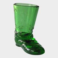 Degenhart Texas Star Boot / Emerald Green Boot / Collectible Boots